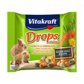 Vitakraft - Drops Mini - мини бонбони с моркови и глухарче 40 гр.