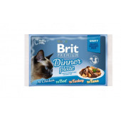 Brit Premium Cat Delicate Fillets in Gravy - Порция паучове 4 x 85гр.
