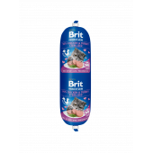 Деликатесен салам за котки Brit Premium by Nature Meat Sausage Chicken & Turkey Sterilised, 180гр.