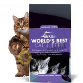 Worlds Best Cat Lavender Scented Multiple Cat Litter - котешка тоалетна с аромат на лавандула