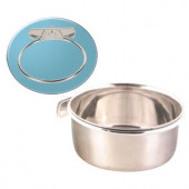 Trixie Stainless Steel Bowl with Holder - Метална хранилка за птици с винт 600 мл