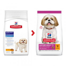 Hill's Science Plan Canine Mature Adult 7+ Active Longevity Mini with Chicken - суха храна за кучета от дребни породи над 7 г.