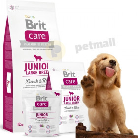 Суха храна за куче Brit Care Junior Large Breed Lamb & Rice